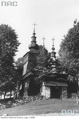 Andrzejówka - drewniana cerkiew Zaśnięcia Najświętszej Maryi Panny (lata 1939 - 1945)
