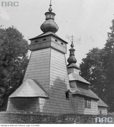 Powroźnik - drewniana cerkiew św. Jakuba Młodszego Apostoła  (lata 1910 - 1939)