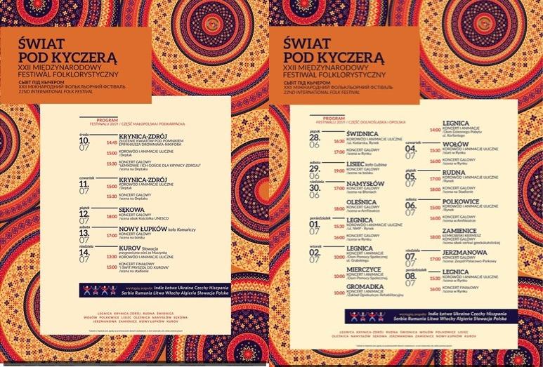 """Międzynarodowy Festiwal Folklorystyczny """"Świat Pod Kyczerą"""" 2019"""