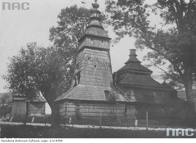 Pętna - stara cerkiew drewniana z 1700 roku (1933 rok)