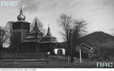Uście Gorlickie (d. Ruskie) cerkiew greckokatolicka (lata 1918 - 1939)