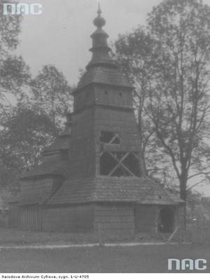 Pętna - stara cerkiew drewniana z 1700 roku  (lata 1918 - 1934)