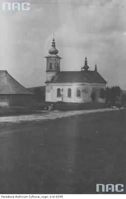 Izby - cerkiew greko-katolicka (lata 1918 - 1939). Zdjęcie pochodzi ze zbiorów Narodowego Archiwum Cyfrowego