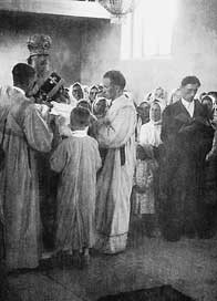 Poświęcenie cerkwi przez władykę Symeona