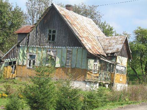 Stary dom w Brelikowie. Stan na 2008 rok.
