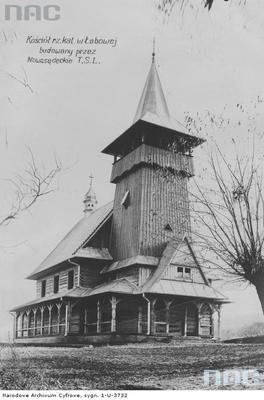 Łabowa - drewniany kościół rzymskokatolicki św. Stanisława Biskupa (lata 1936 - 1939)
