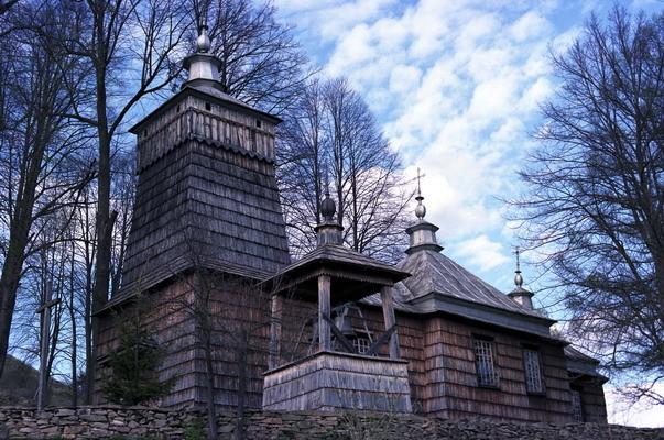 Leluchów - cerkiew p.w. św. Dymitra z XIX w. Łemkowszczyzna. Fot. Cyprian Pawlaczyk