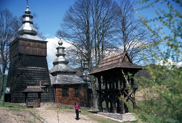 Cerkiew greko - katolicka p.w. św. Kosmy i Damiana w Wojkowej . Fot. Cyprian Pawlaczyk