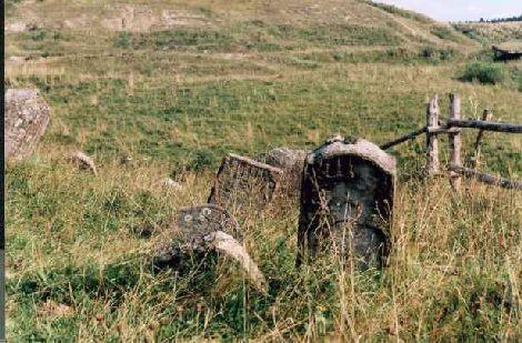 Kirkut w Lutowiskach. 2001 rok.