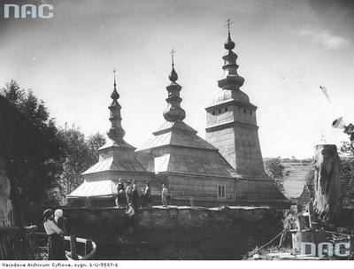 Rychwałd - cerkiew greckokatolicka p.w. Opieki Matki Bożej (lata 1918 - 1937)