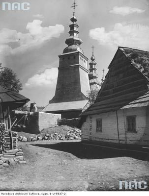 Rychwałd - cerkiew greckokatolicka p.w. Opieki Matki Bożej (lata 1918 - 1936)