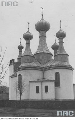 Klimkówka. Cerkiew pw. Wniebowzięcia Najświętszej Maryi Panny w 1914r. z archiwum NAC