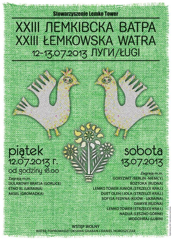 Łemkowska Watra w Ługach 2013