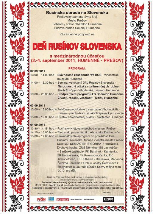 Deń Rusyniv Slovensko