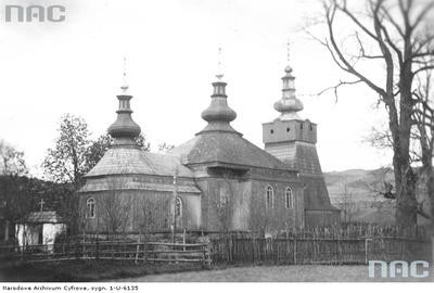 Śnietnica - cerkiew greckokatolicka p.w. św. Demetriusza (lata 1910 - 1939)