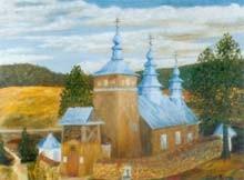 cerkiew w Żdyni na obrazie Stefana Telepa