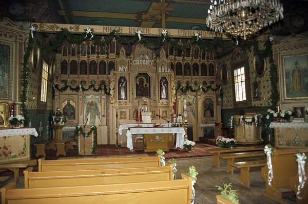 Mochnaczka Niżna. Cerkiew parafialna p.w. św. Michała Archanioła z XVIII w., obecnie kościół rzymsko katolicki. fot. Cyprian Pawlaczyk
