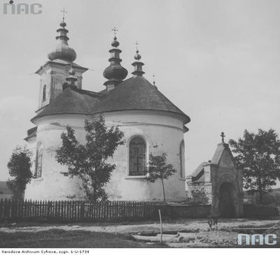 Izby - cerkiew św. Łukasza (lata 1918 - 1939). Zdjęcie pochodzi ze zbiorów Narodowego Archiwum Cyfrowego