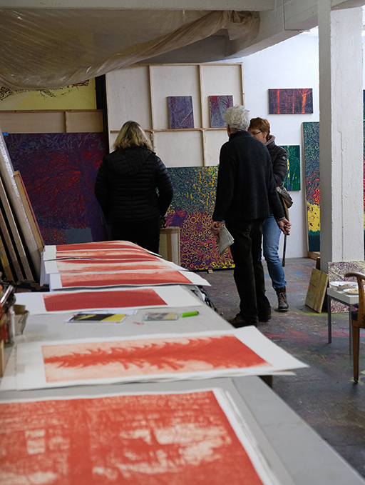 Hinterhaus Hochparterre Atelier Günter Paule Foto Claudia Spanhel