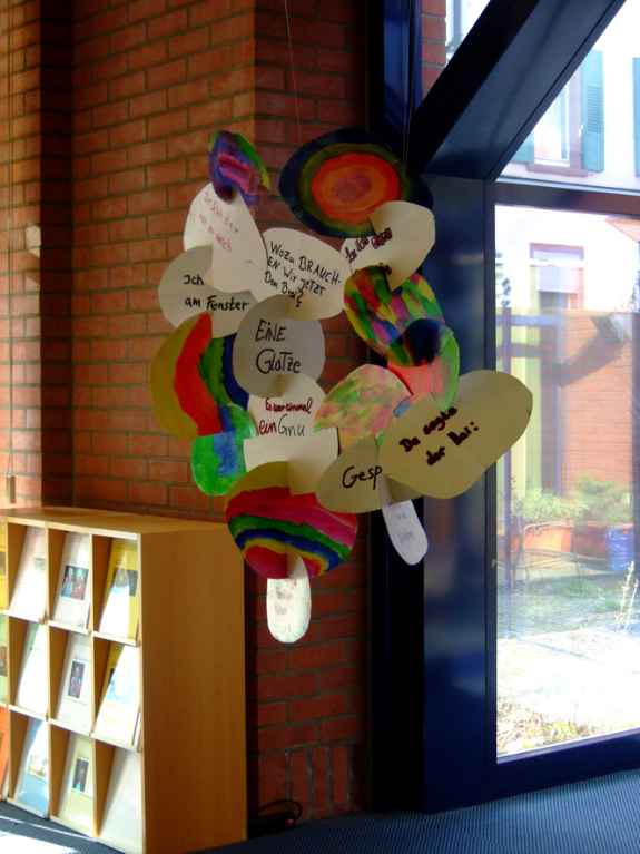 Große Poesiewolke mit Gedichten von Kindern