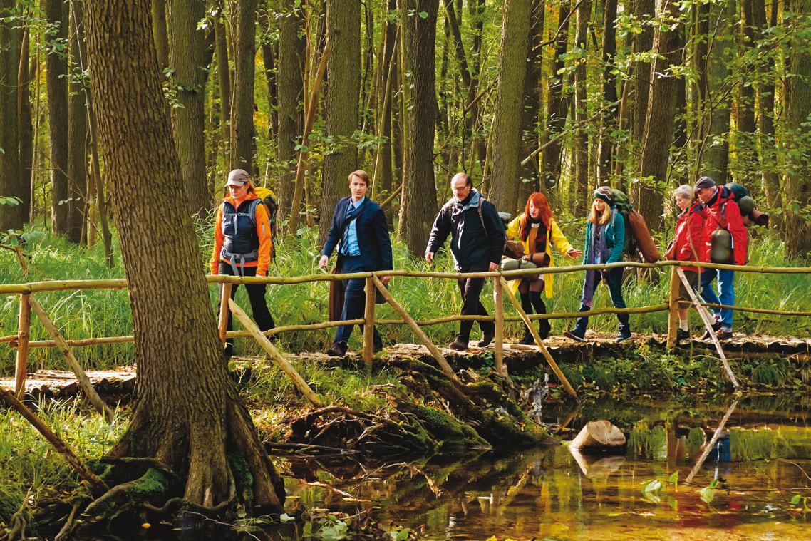 """Standfoto """"Mit Burnout durch den Wald"""" Wiedemann & Berg Television GmbH"""