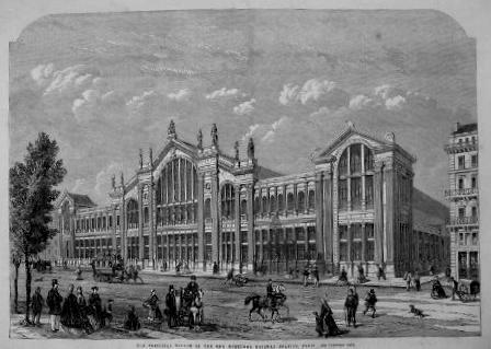 la gare du Nord en 1865