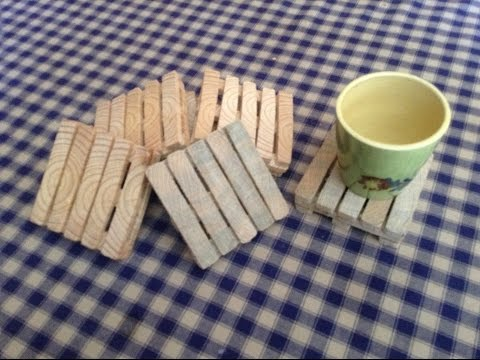 Fabrication de dessous de plat en forme de palettes