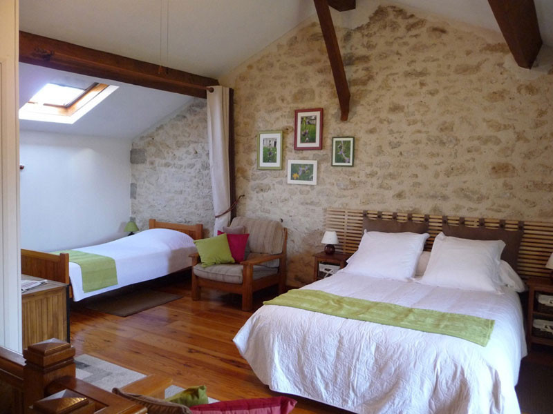 Gîte l'Estebot  Ruch Gironde-chambre