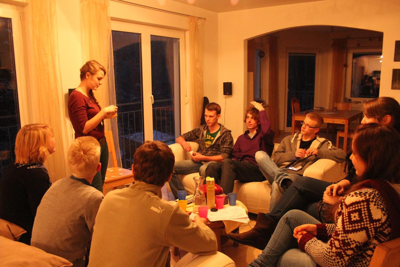 Jugendstunde mit dem Thema Sabbat