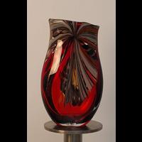 Original Murano Glass Raggi,  Afro Master, Murano Vase