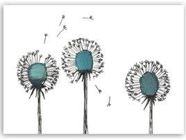 3 Pustblumen