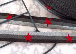 rote Sterne graue Streifen 12 mm