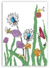 Bluemwiese mit Insekten