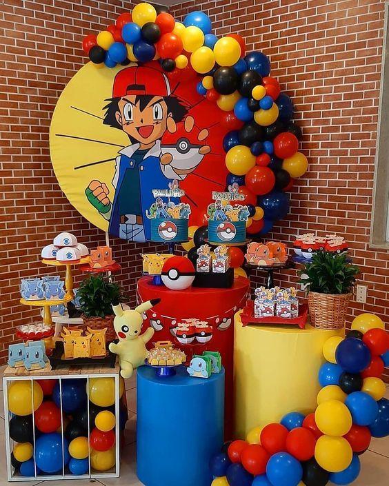 mesa de dulces pokemon