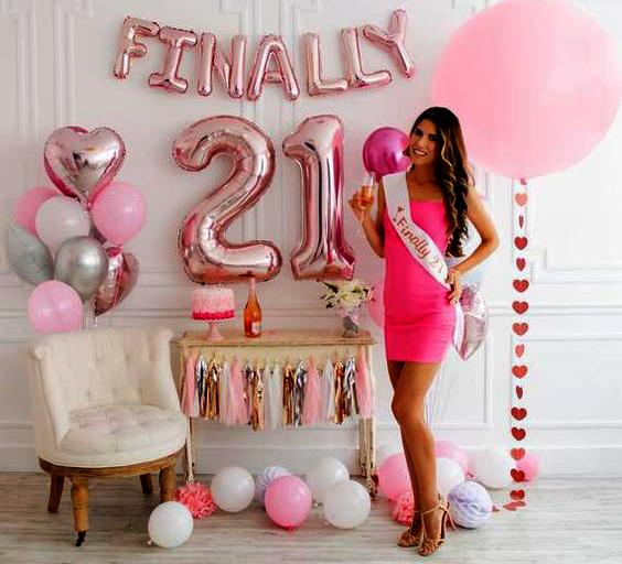 dcoracion cumpleaños 21 años
