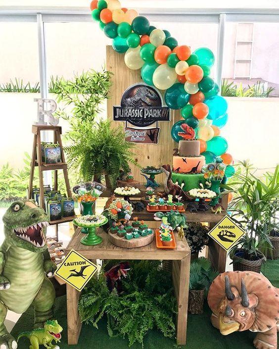 decoracion cumpleaños jurassic park