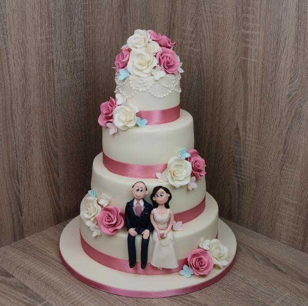 torta de boda para matrimonio