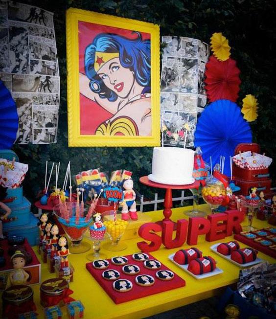 cumpleaños de super heroes