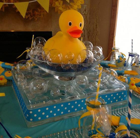 decoracion de fiesta con patos
