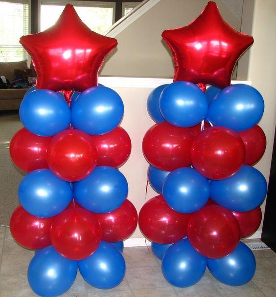 decoraciones con globos para fiesta infantil