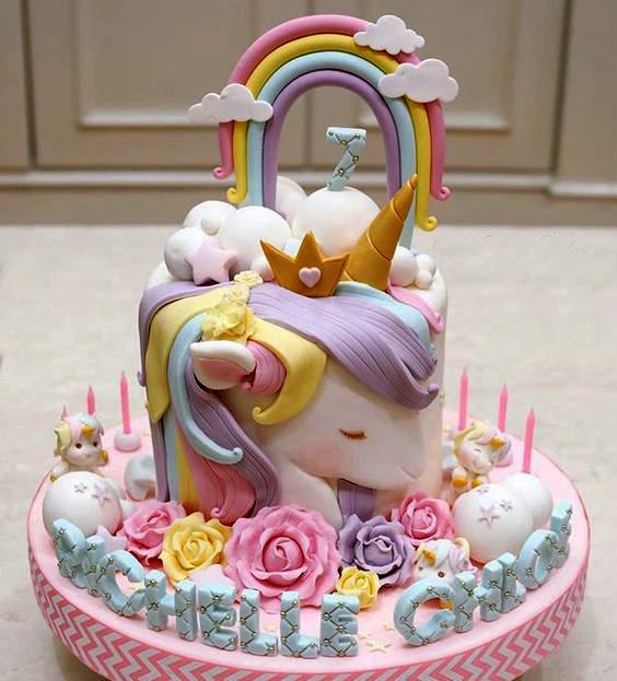 diseños de pasteles fiesta unicornio