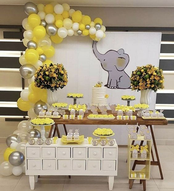 baby shower de elefantes