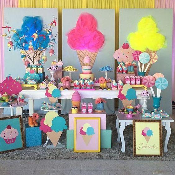 decoracion cumpleaños ice cream