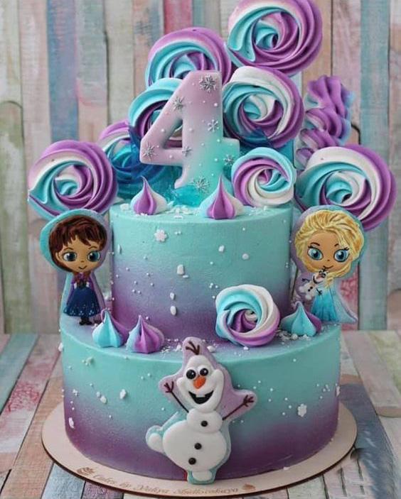pastel de cumpleaños frozen