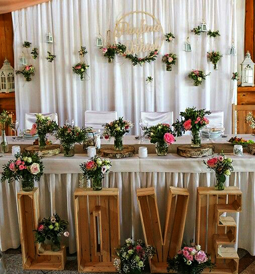 arreglo mesa principal para boda
