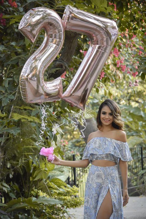 foto de cumpleaños en el jardin