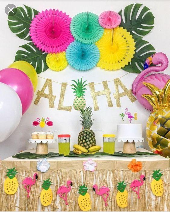 ideas fiesta hawaiana