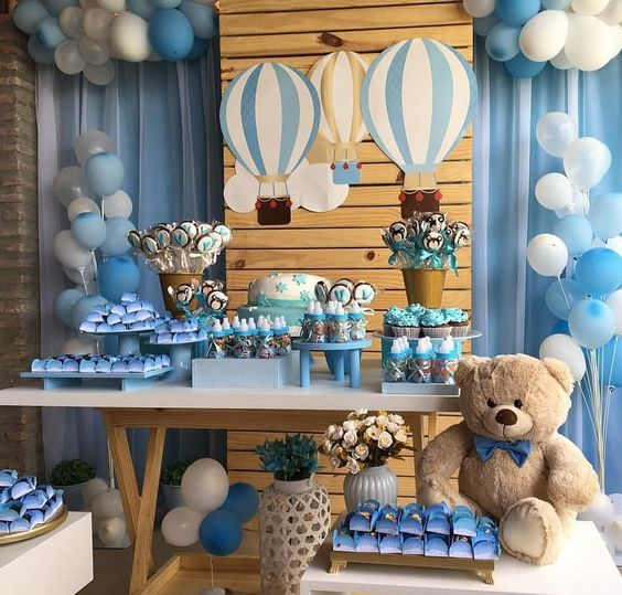 decoracion de baby shower con ositos