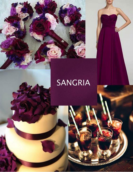 ideas boda en tonos vino
