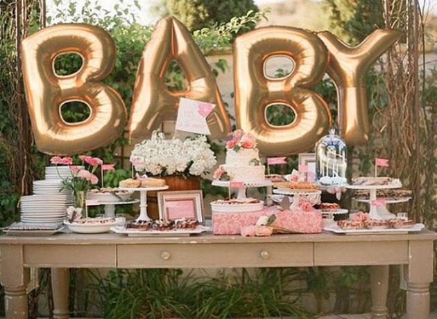 globos de letras para baby shower